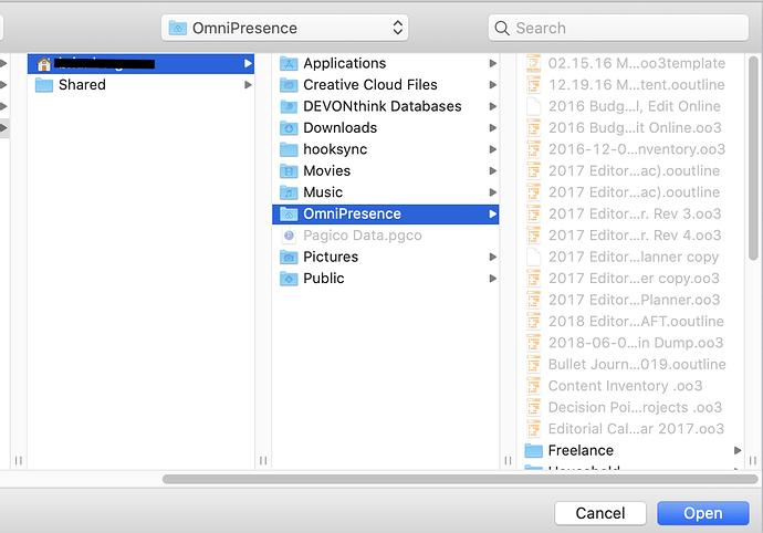 OmniPresence Finder Screenshot