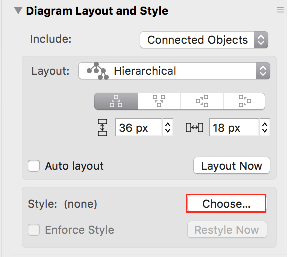 Diagram Layout and Style Inspector