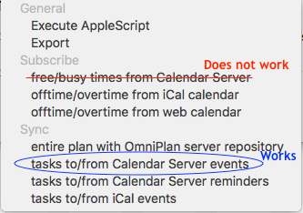 Calendar Server works to sync events but not to pull